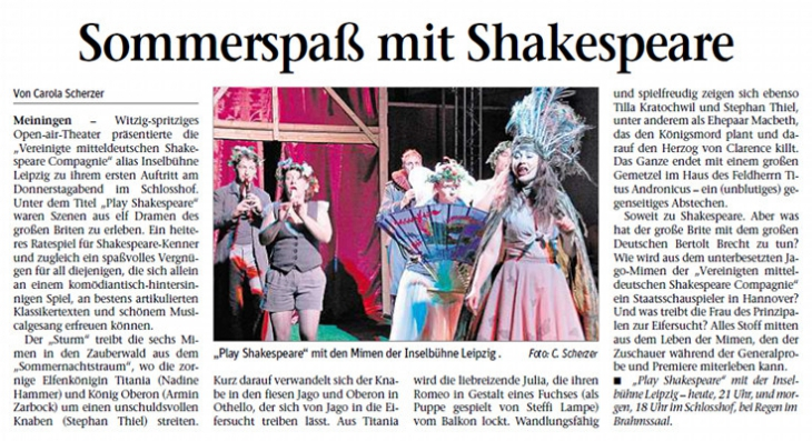 Play Shakespeare in Meiningen